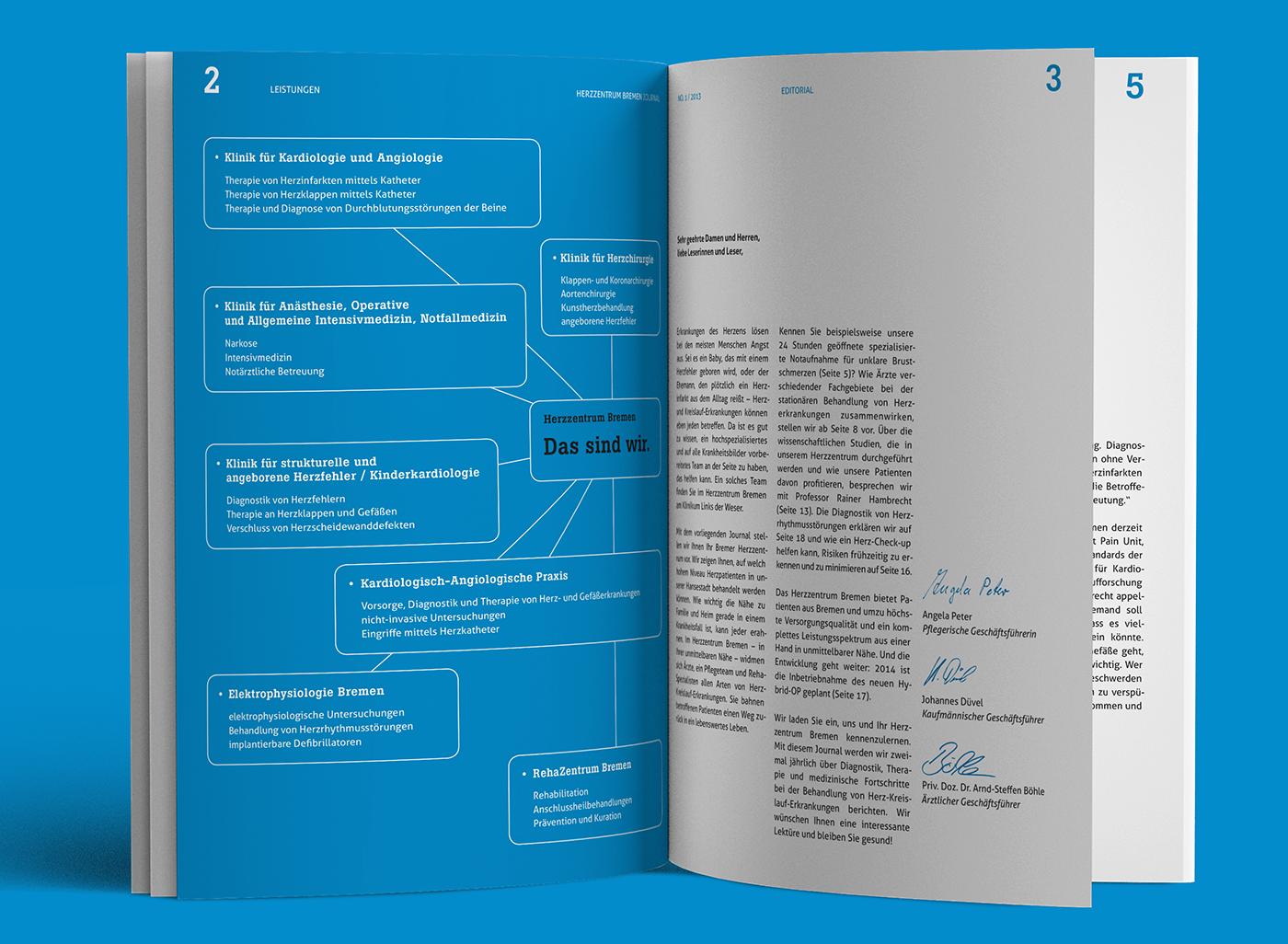 eskalade Herzzentrum Bremen Editorial Design