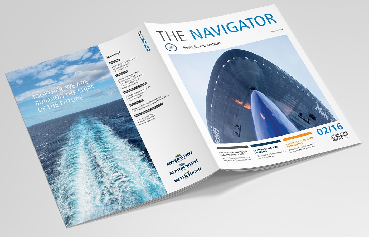 eskalade Meyer Werft Navigator Magazin