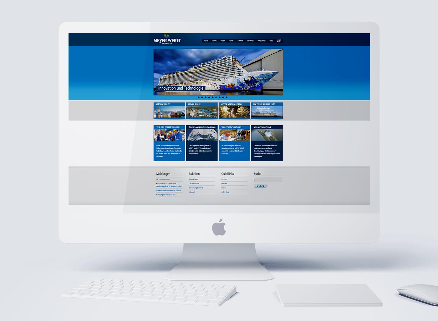 eskalade Meyer Werft Internet