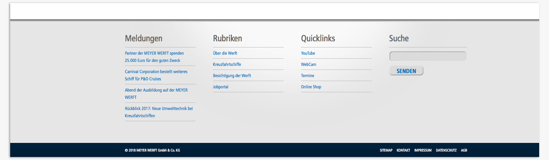 eskalade Meyer Werft Webdesign