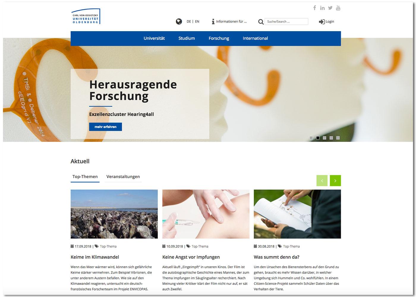 eskalade Universität Oldenburg Internet